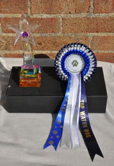 The Top Water Dog trophy and rosette