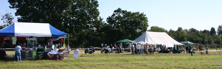 The stands and displays at the Fun Day