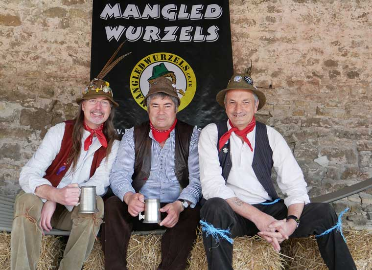 Mangled Wurzels appearing at fun weekend at Christine Bodman's